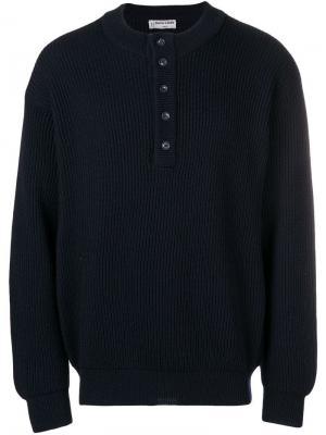 Ребристый свитер Pierre Cardin Vintage. Цвет: синий