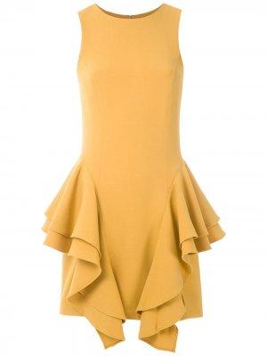 Платье без рукавов со вставками Olympiah. Цвет: желтый