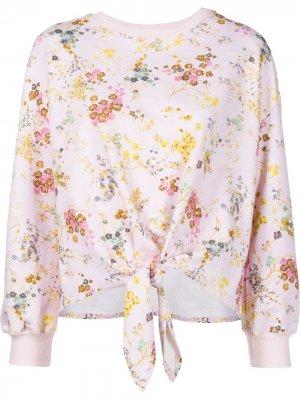 Пуловер Sakura с цветочным принтом Cinq A Sept. Цвет: розовый