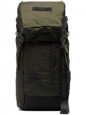 Рюкзак с вышитым логотипом Nemen. Цвет: зеленый