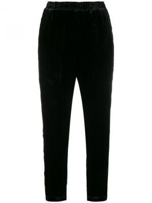 Асимметричные брюки Gold Hawk. Цвет: черный