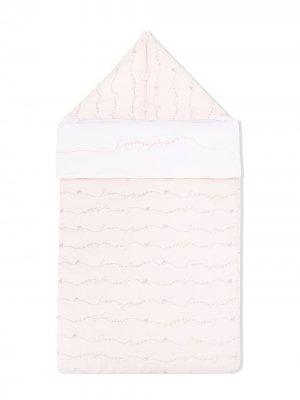 Конверт для новорожденного с логотипом Emporio Armani Kids. Цвет: розовый