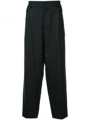 High waisted tailored trousers Wooyoungmi. Цвет: синий