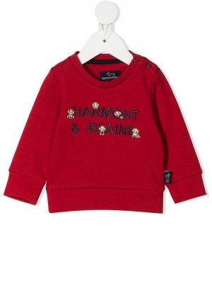 Толстовка с вышитым логотипом Harmont & Blaine Junior. Цвет: красный