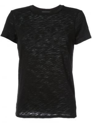 Классическая футболка с круглым вырезом Atm Anthony Thomas Melillo. Цвет: черный