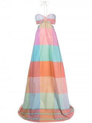 Длинное платье Dusana Alexis. Цвет: разноцветный