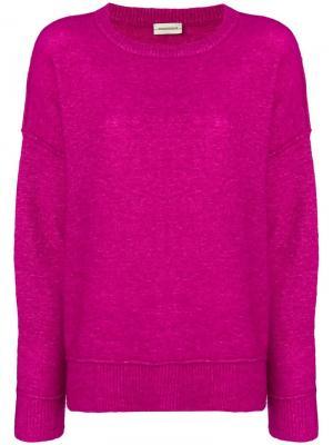 Свитер с длинными рукавами By Malene Birger. Цвет: розовый