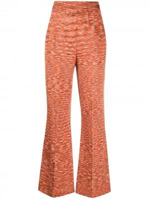 Расклешенные брюки с абстрактным принтом M Missoni. Цвет: оранжевый