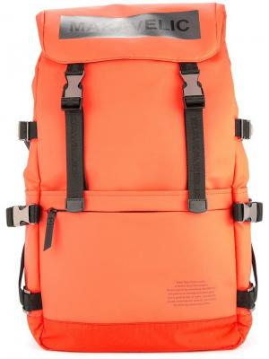 Ludus box-logo backpack Makavelic. Цвет: желтый