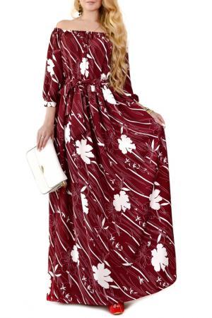 Платье Patricia B.. Цвет: бордовый