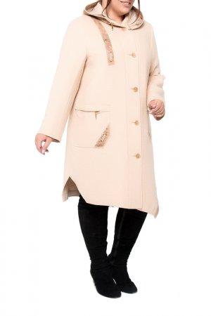 Пальто KR. Цвет: пудровый
