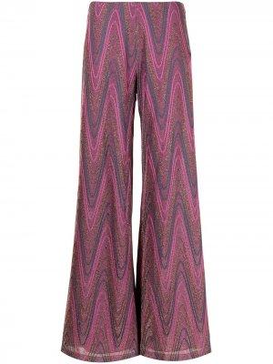 Укороченные брюки в полоску M Missoni. Цвет: розовый