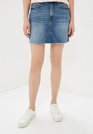 Юбка джинсовая Gap. Цвет: синий
