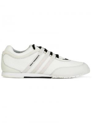 Кроссовки с полосками Y-3. Цвет: белый