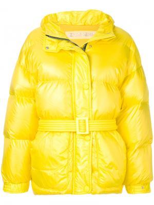 Куртка Michelin с поясом Ienki. Цвет: желтый