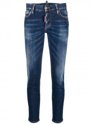 Укороченные джинсы Maple Leaf Dsquared2. Цвет: синий
