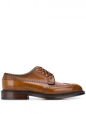 Churchs туфли дерби Grafton с брогированием Church's. Цвет: коричневый