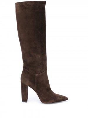 Сапоги с заостренным носком Le Silla. Цвет: коричневый