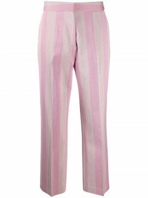 Полосатые брюки прямого кроя Tommy Hilfiger. Цвет: розовый
