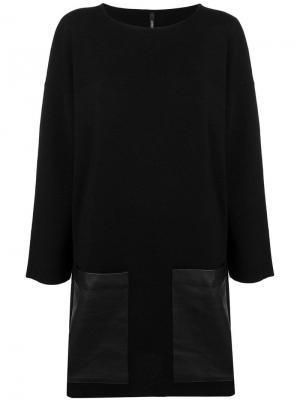 Платье с карманами Pierantoniogaspari. Цвет: черный