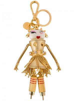 Брелок в форме робота Prada. Цвет: металлический