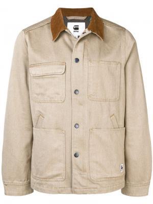 Contrast collar denim jacket G-Star Raw Research. Цвет: нейтральные цвета