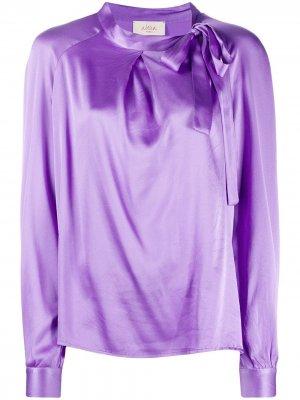 Атласная блузка с бантом Altea. Цвет: фиолетовый