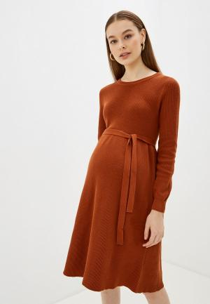 Платье Mamalicious. Цвет: коричневый
