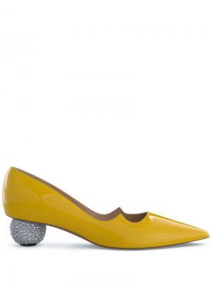 Туфли-лодочки Ankara Paul Andrew. Цвет: желтый