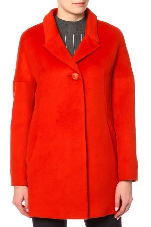 Пальто КОРУ-СТИЛЬ. Цвет: красный