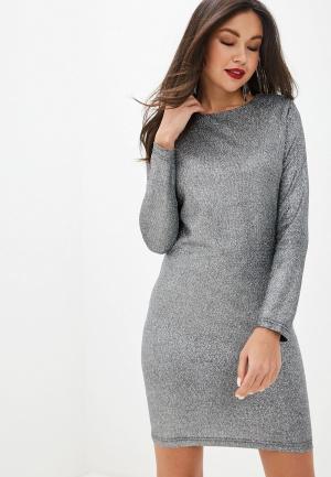 Платье Imocean. Цвет: серебряный