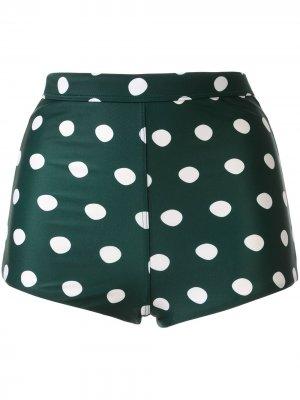 Плавки бикини с завышенной талией Peony. Цвет: зеленый