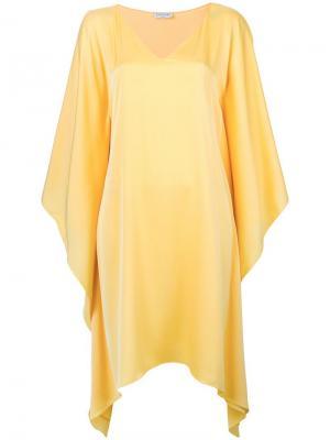 Асимметричное платье Vionnet. Цвет: желтый