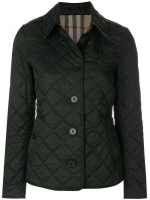Стеганая куртка Burberry. Цвет: черный