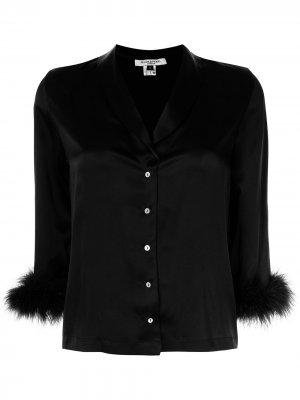 Пижамный топ Kitty с перьями Gilda & Pearl. Цвет: черный