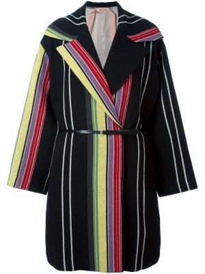Пальто в полоску Nº21. Цвет: чёрный