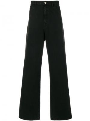 Широкие джинсы Raf Simons. Цвет: черный