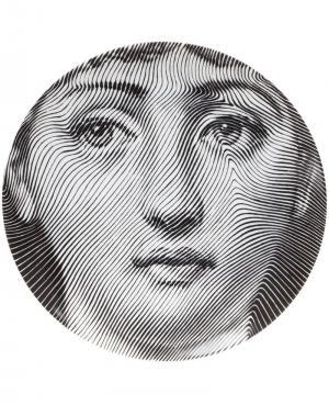 Сувенирная тарелка Fornasetti. Цвет: серый