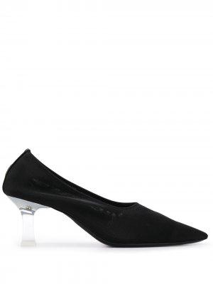 Туфли-носки на каблуке The Row. Цвет: черный