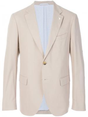 Классический пиджак Gant By Michael Bastian. Цвет: нейтральные цвета