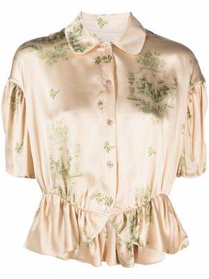 Рубашка с принтом Simone Rocha. Цвет: нейтральные цвета