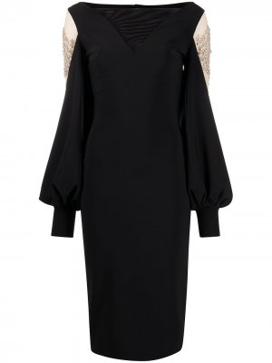 Приталенное платье миди Nala Illusion Le Petite Robe Di Chiara Boni. Цвет: черный