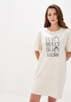 Сорочка ночная Vis-a-Vis. Цвет: бежевый