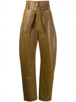 Зауженные брюки с завышенной талией Off-White. Цвет: зеленый