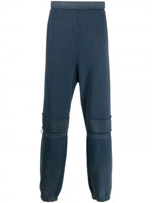 Спортивные брюки с эффектом потертости AMBUSH. Цвет: синий