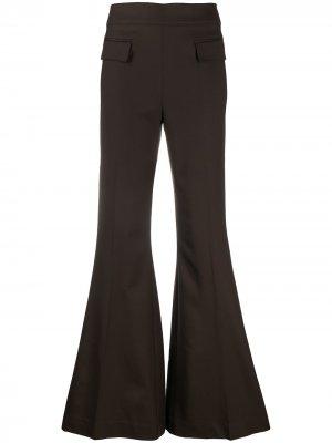 Расклешенные брюки с карманами P.A.R.O.S.H.. Цвет: коричневый