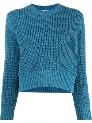 Укороченный джемпер крупной вязки Rachel Comey. Цвет: синий