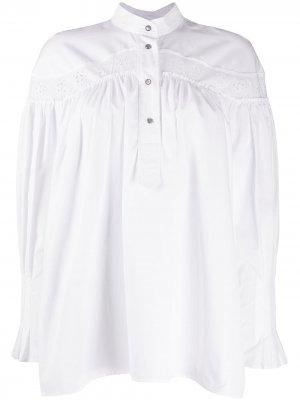 Присборенная блузка с длинными рукавами Cédric Charlier. Цвет: белый