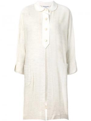 Рубашка с разрезом спереди Pierre Cardin Pre-Owned. Цвет: коричневый