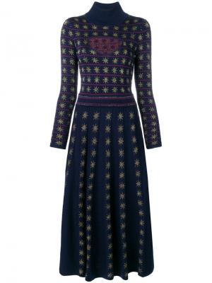 Трикотажное платье Night Temperley London. Цвет: синий